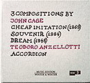 3 Compositions By John Cage